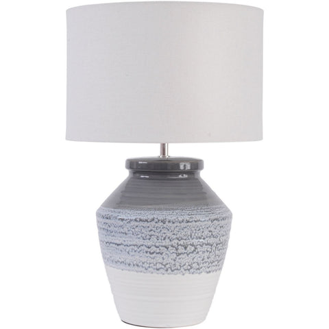 Skyline Grey and Blue Ceramic Table Lamp with Shade