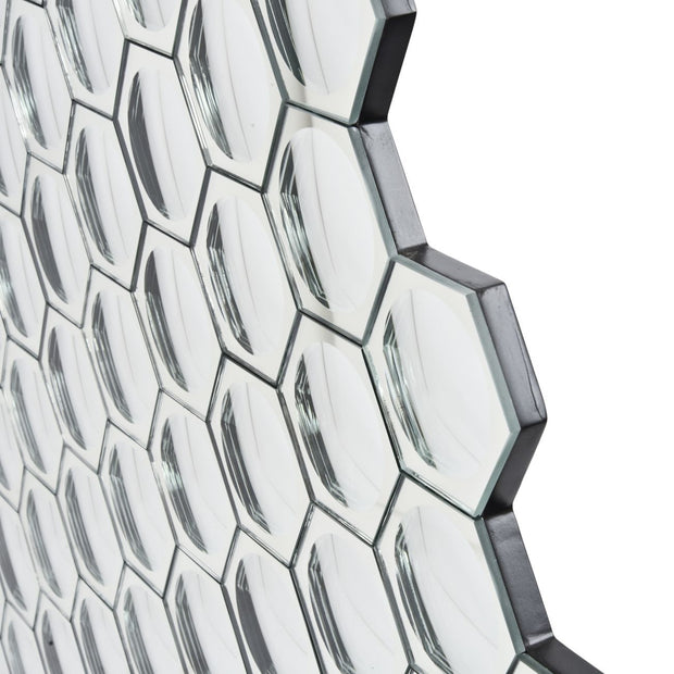 Hexagon Honeycomb Convex Wall Mirror