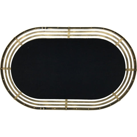 Lalique Gold Metal Oval Mirror