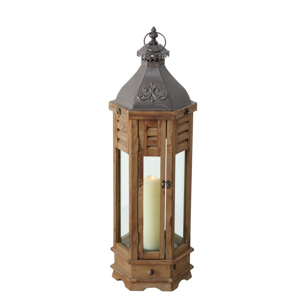 Timber Lanterns - Set of 4