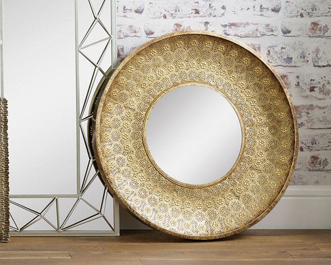 Gold Metal Ornate Wall Mirror
