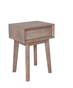 Acacia Wood 1 Drawer Bedside Table