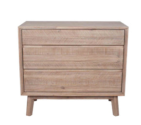 Acacia Wood 3 Door Chest