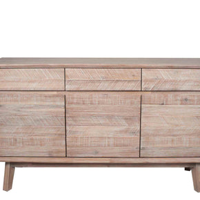 Acacia Wood 3 Door Sideboard