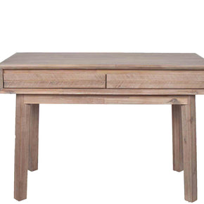 Acacia Wood 2 Drawer Console Table