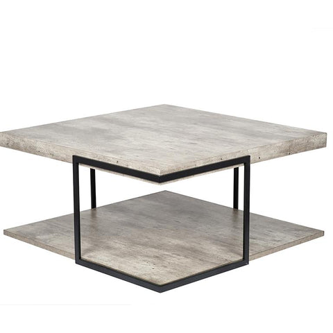 Concrete Styled  & Iron Coffee Table