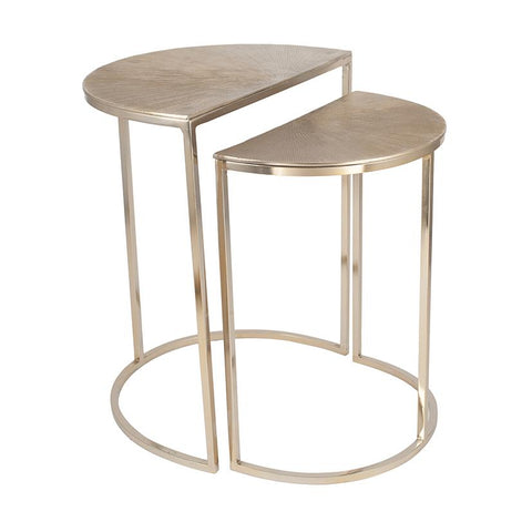 Half Moon Side Tables - Set of 2