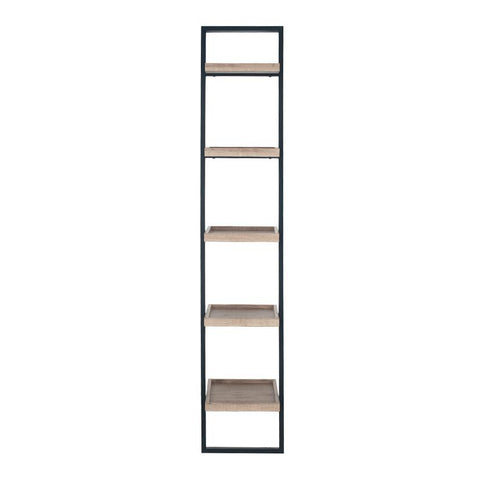 Wood & Metal Shelf Unit with Tray Style - Tall