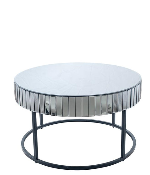 Grey Mirror Glass Coffee Table