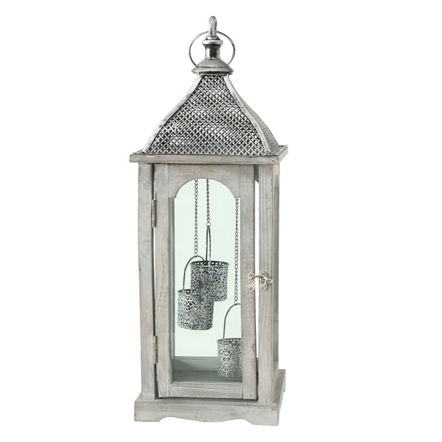 Kaden Grey Lantern - Set of 3