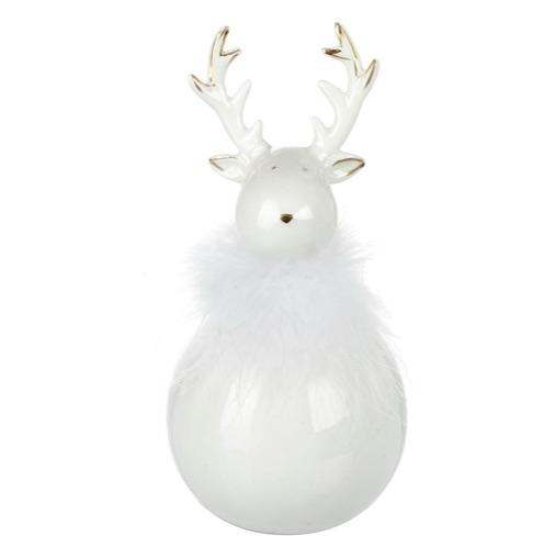 Reindeer In Porcelain & Feathers - Large