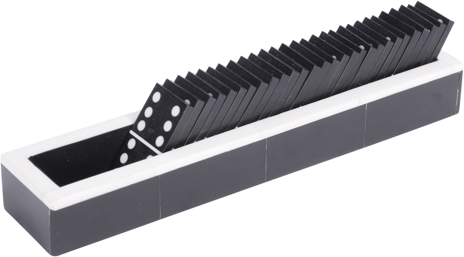 Black Horn Dominos & Tray Holder