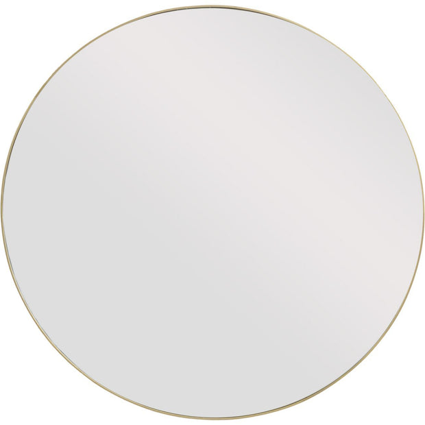 Round Gold Metal Frame Mirror - Large