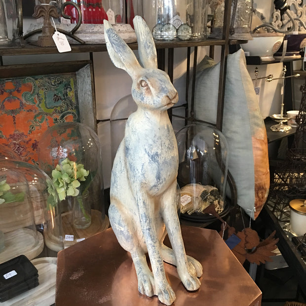 Grey Hare Sculpture Ornament - Allissias Attic  &  Vintage French Style - 2