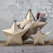 Gold Metal Star Containers with Handle