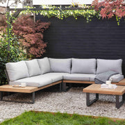 Amberley Sofa Set - Teak & Steel