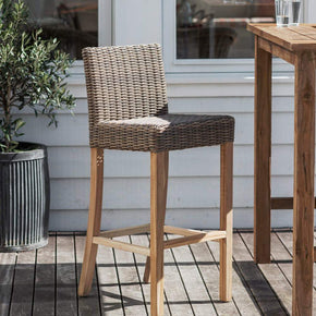 Lymington Rattan Bar Stool - Set of 2
