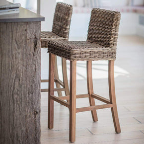 Bembridge Rattan Bar Stool - Set of 2