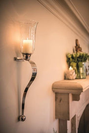 Curved Candle Sconces - Small Pair