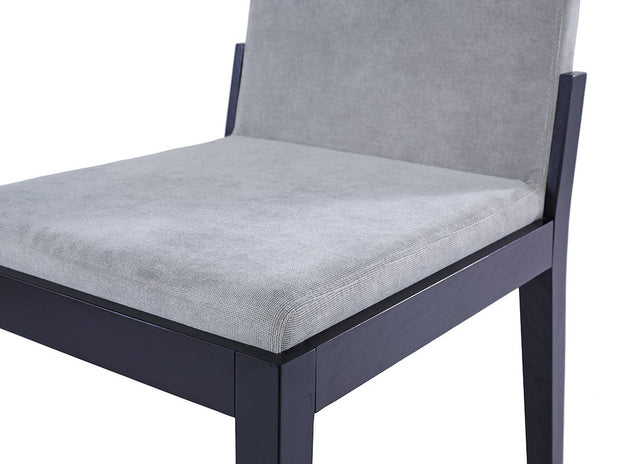 Dining chair - grey fabric