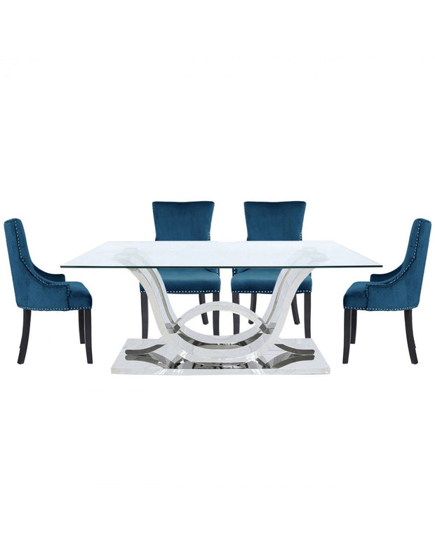 Cordon Dining table & 6 Chairs - Marine