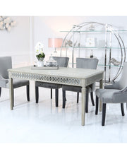 Baytree Dining Table - Large + 6 Grey Chairs