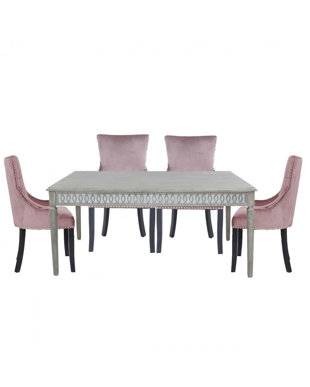 Baytree Dining Table - Large + Pink Chairs