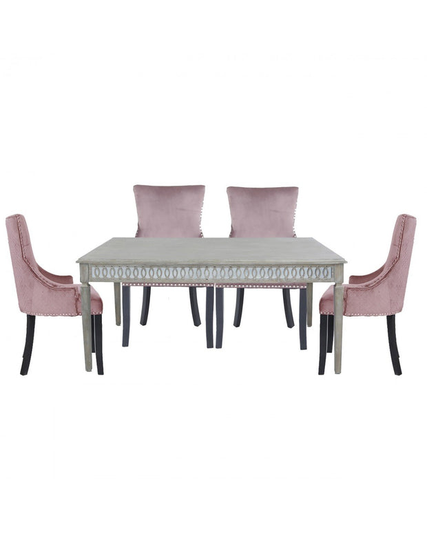 Baytree Dining Table  - Medium + Pink Chairs