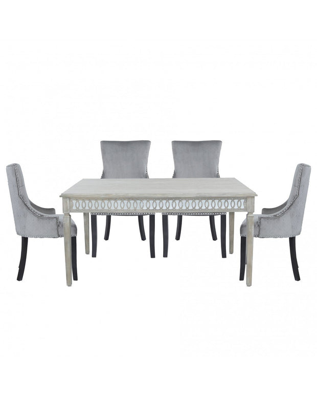Baytree Dining Table  - Medium + 6 Grey Chairs