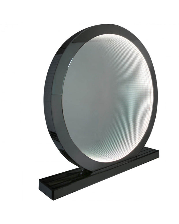 Smoked Mirror Table Lamp - Large