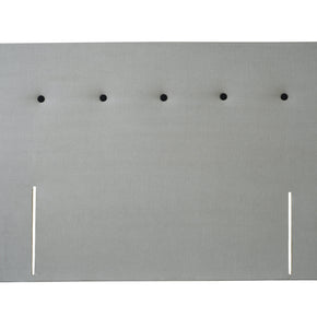 Double Headboard with sIngle Buttoned Row Detail
