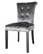 Dining Chair in Charcoal Crushed Velvet (set of 4)
