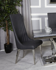 Dark Grey And Chrome Dining Chair