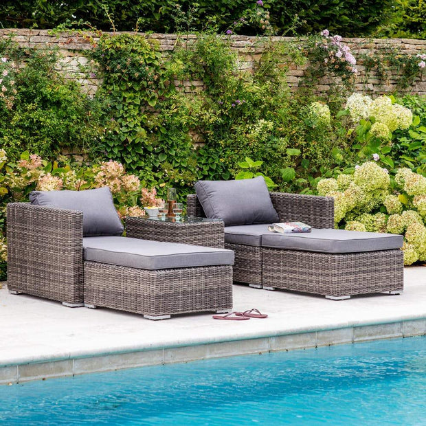 Selborne Rattan Double Lounger Set