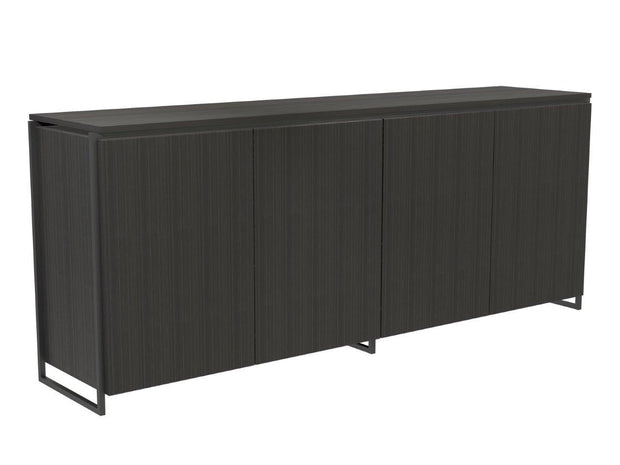 Metal Framed Four Door Sideboard