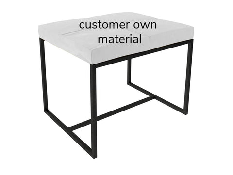 Metal Framed Upholstered  Stool - Small