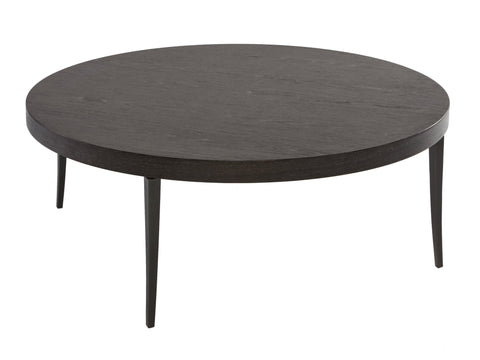 Charcoal Veneer Round Coffee Table