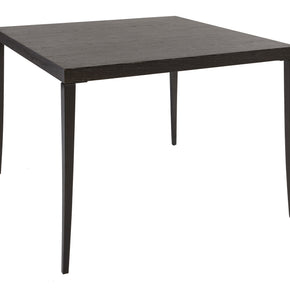 Charcoal Veneer Dining Table - Square