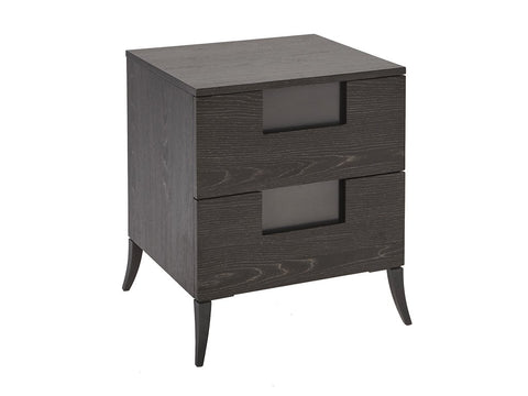 Charcoal Veneer Bedside Chest