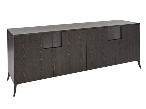 Charcoal Veneer Long Sideboard