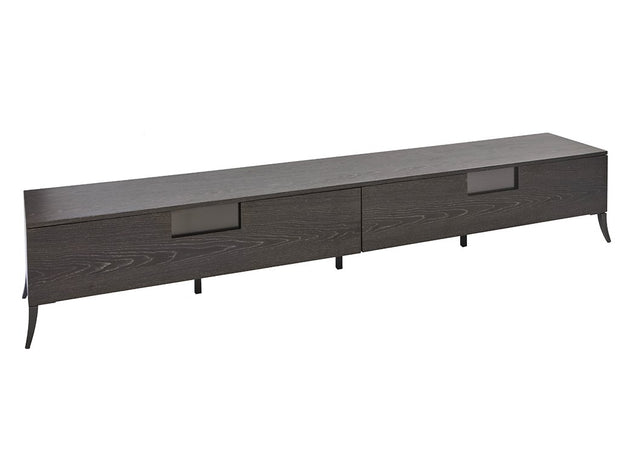 Charcoal Veneer Long TV Unit