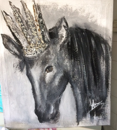 Horse with Crown - Original Canvas Artwork