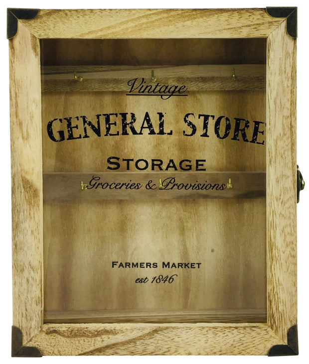Rustic General Store Key Box Wooden