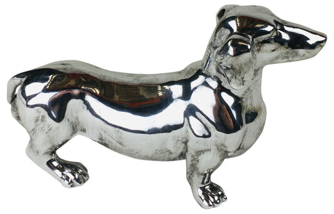 Silver Standing Sausage Dog