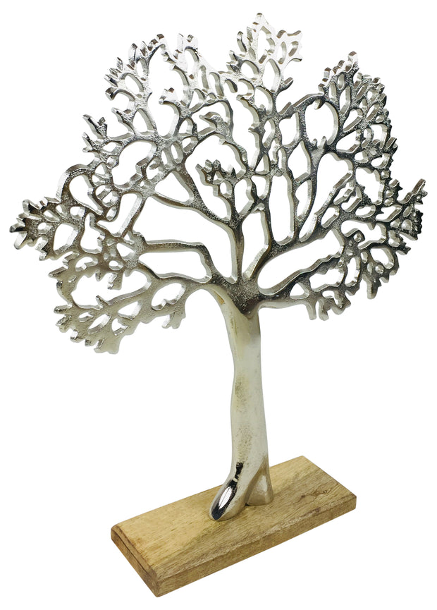 Large Silver Tree Ornament 42cm