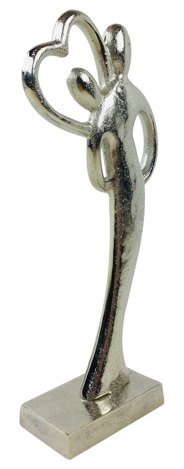 Entwined Couple Silver Curved Figure
