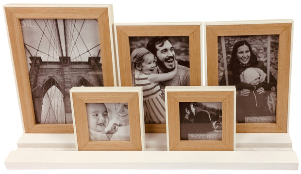 Five Frames on White Tray Base