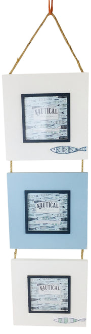 Triple Hang Photo Frame Fish 44cm