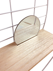Shelving Unit with Mirror 45cm