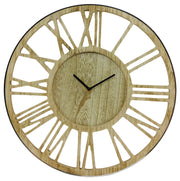 Wooden Silver Clock 40cm